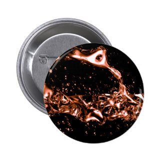 Fantastic Melted Copper Design 6 Cm Round Badge