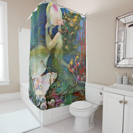 fantastic mermaid shower curtain