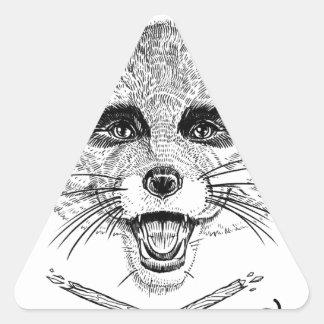 Fantastic Mr. Fox Triangle Sticker