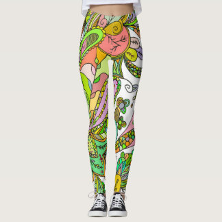 Fantastic Style Bright Doodles Leggings