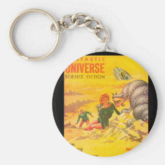 Fantastic Universe v05 n03 (1956-04.King-Size)Pulp Basic Round Button Key Ring