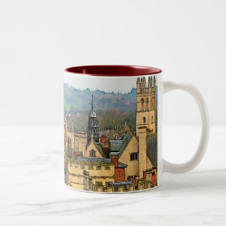 Fantastic View, Oxford, England, High Street #1 Two-Tone Coffee Mug