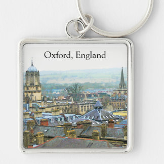Fantastic View, Oxford, England, Roof Top #1 Key Ring