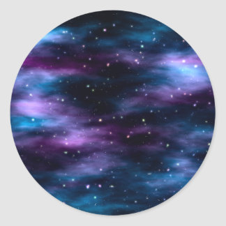 Fantastic Voyage Space Nebula Classic Round Sticker