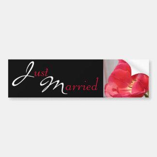 Fantastic Wedding Tulips Just Married Bumper Sticker