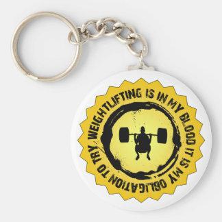 Fantastic Weightlifting Seal Basic Round Button Key Ring