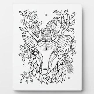Fantastical Forest Deer Plaque