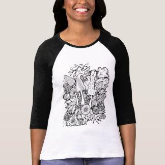 Fantastical Forest Flower Mushrooms T-Shirt