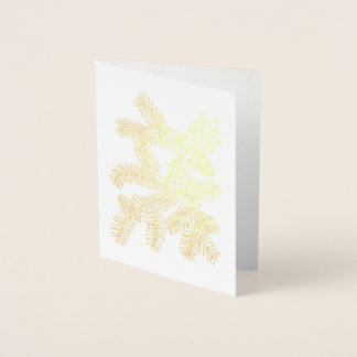 Fantastical Forest Pine Bough Foil Card