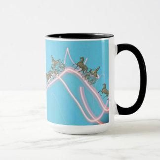 Fantasy 1870 Horse and Buggy Traverse Neon Sky Mug