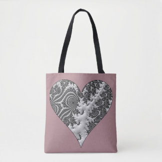 Fantasy 3 D Heart Tote Bag