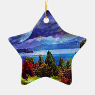 Fantasy and imagination live together ceramic ornament