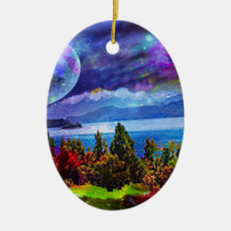 Fantasy and imagination live together ceramic oval decoration