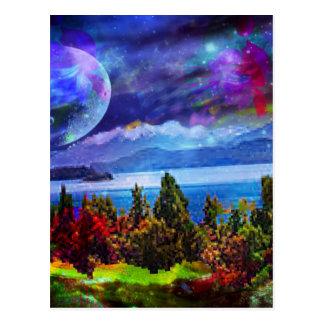 Fantasy and imagination live together postcard