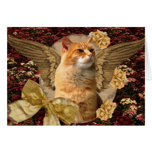 FANTASY ANGEL CAT NOTE CARD