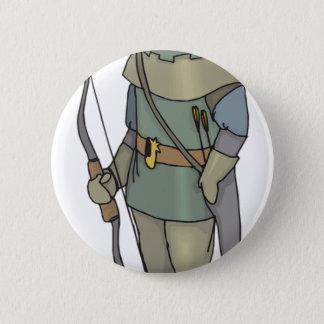 Fantasy Archer Man Bow Arrow 6 Cm Round Badge