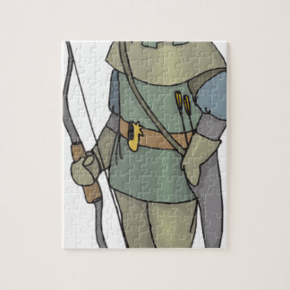 Fantasy Archer Man Bow Arrow Jigsaw Puzzle