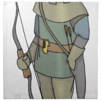 Fantasy Archer Man Bow Arrow Napkin
