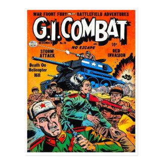 Fantasy Army Tank Combat Postcard