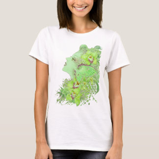 Fantasy Art Baby Doll T - The Green Faery T-Shirt