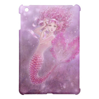 Fantasy Art iPad Case - Pink Ribbon Mermaid