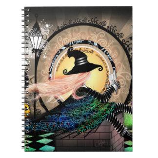 Fantasy art nouveau witch notebooks