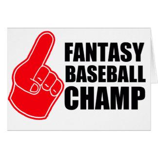 Fantasy Baseball Champ Card