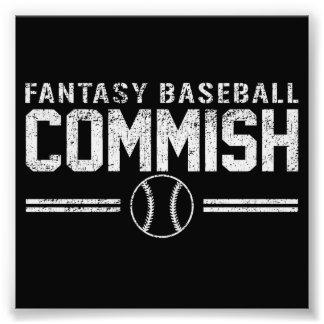 Fantasy Baseball Commish Art Photo