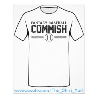 Fantasy Baseball Commish Flyer Design