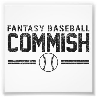 Fantasy Baseball Commish Photo Art