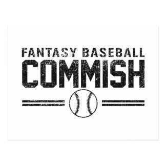 Fantasy Baseball Commish Postcards