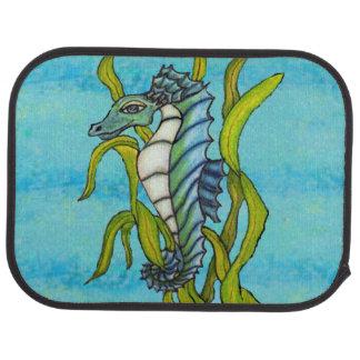 Fantasy Blue Sea Dragon Seahorse Seaweed Floor Mat