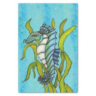 Fantasy Blue Sea Dragon Seahorse Seaweed Tissue Paper