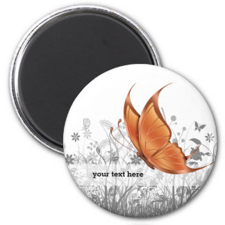 Fantasy Butterfly * choose background color 6 Cm Round Magnet