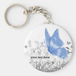Fantasy butterfly * choose background color key ring