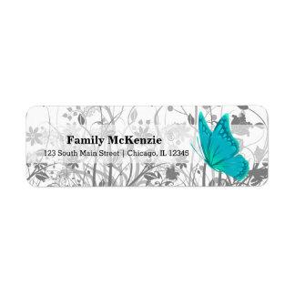 Fantasy Butterfly * choose background color Return Address Label