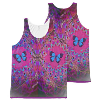 Fantasy butterfly kaleidoscope all over print tank All-Over print tank top