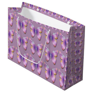 Fantasy Butterfly Tiled Large Large Gift Bag