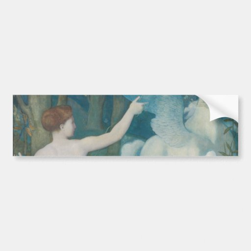 Fantasy by Pierre Puvis de Chavannes Bumper Stickers