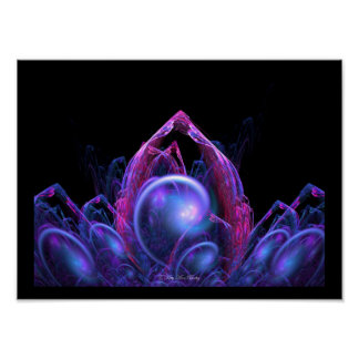 Fantasy Castle Fractal by Kitty Ann Poster