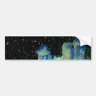 Fantasy Castle Night Products Bumper Sticker