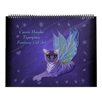 Fantasy Cat Art Calendar. Fairy Cats Calendars