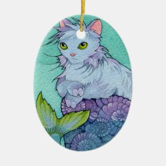 Fantasy Cats Affirmation  Card - Permanence Ceramic Ornament