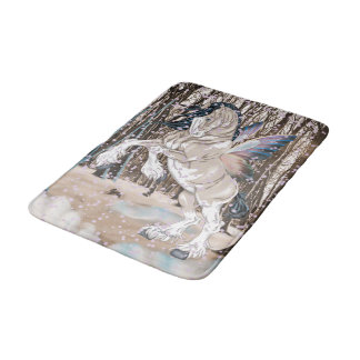 Fantasy Clydesdale Horse Fairy Bath Mat
