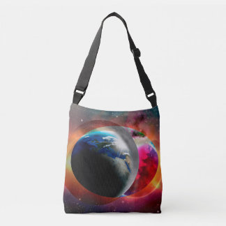 Fantasy cosmic all over design cross body bag