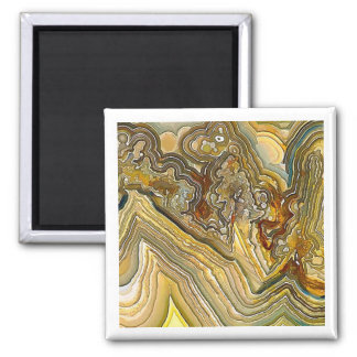 Fantasy Crazy Lace Agate Opus 01 Square Magnet