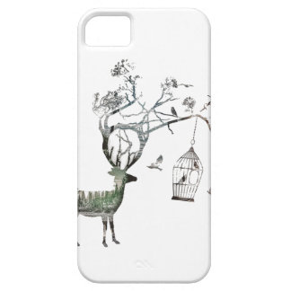 Fantasy Deer with Birds iPhone 5 Cover