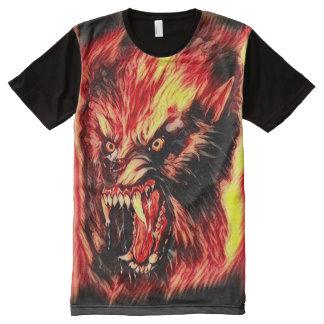 Fantasy Demon Werewolf Dark Horror Art All-Over Print T-Shirt