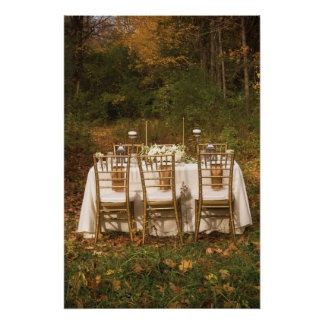 Fantasy Dinner in the Autumn Woods Poster