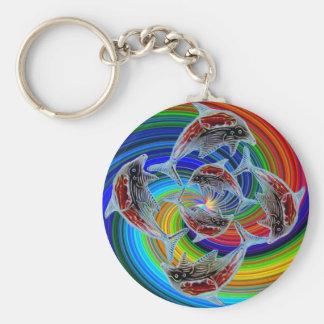 Fantasy Dolphin World keychain Basic Round Button Keychain